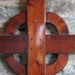 Wooden Cross in porch