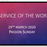 Sunday 29 March 2020 - Service of the Word