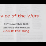 Sunday 22 November 2020  - Service of the Word