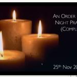 Wednesday 25 November 2020 - Compline