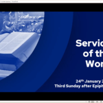 Sunday 24 January 2021 - Service of the Word