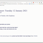 Tuesday 12 January 2021 - Morning Prayer