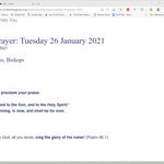 Tuesday 26 January 2021 - Morning Prayer