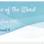 Sunday 20 June 2021 - Service of the Word